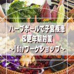 2021-03-12:信州松本:〜ハーブボールで子宮疾患&更年期対策〜1dayワークショップ